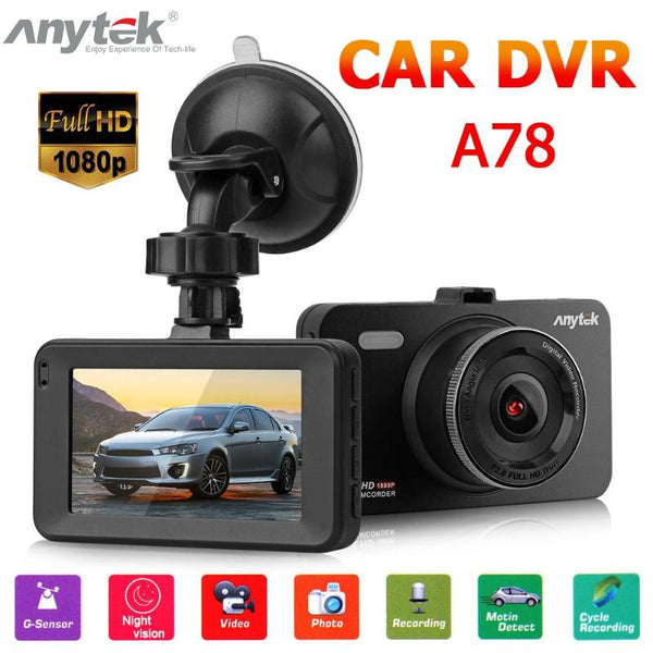 Anytek A78 Mini Car DVR Camera Full HD 1080P DVRs 170 Wide Angle Auto Digital Video Recorder Camcorder ADAS G-sensor Dash Cam
