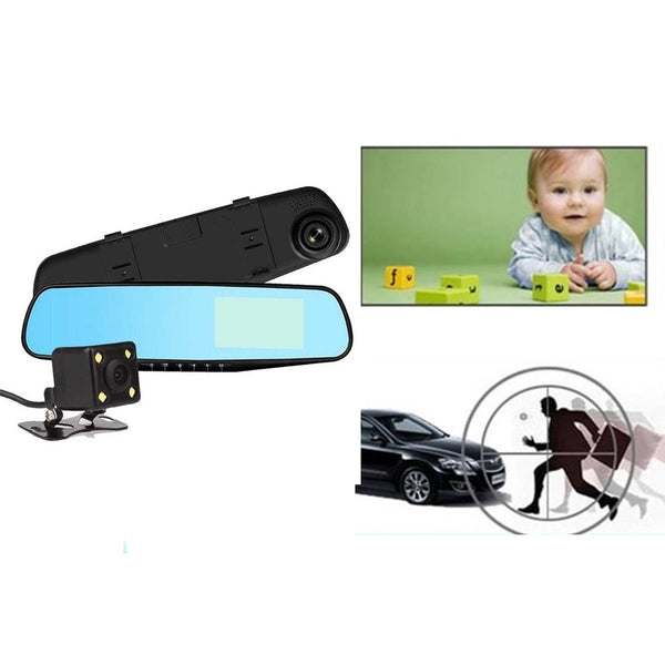 "Backup Camera 4.3"" Mirror Dash Cam 1080P Touch Screen Front and Rear Dual Lens Car Camera Waterproof Rear View Revers Camera"