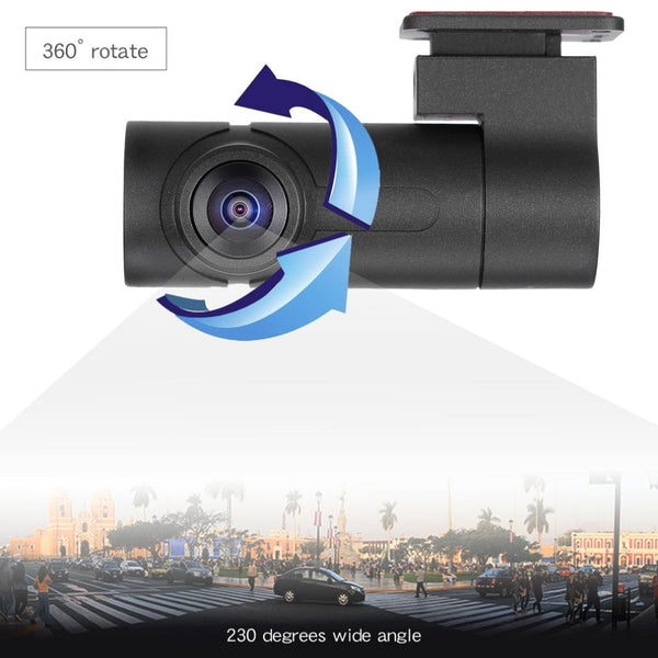 Single Lens 1080P Panorama Driving Recorder 360 Degree High Definition Mini Tachograph Camera Support Night Vision Drop Shipping