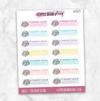 Student Loan Payment Budget Bill Planner Stickers