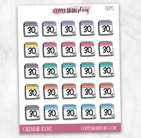Calendar Icons Planner Stickers