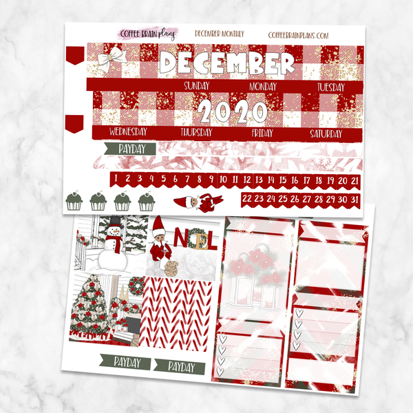 December Christmas Monthly Kit for Classic Happy Planner