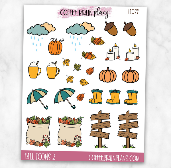 Fall Icons Sheet 2 Planner Stickers