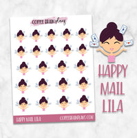 Lila Gets Happy Mail Character Planner Stickers
