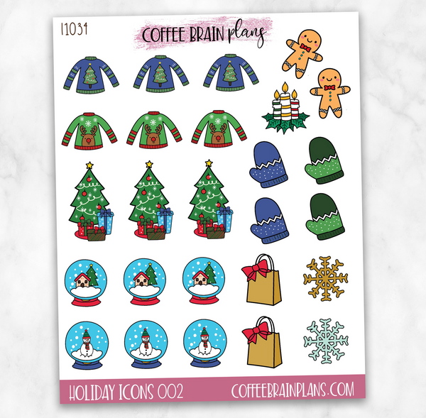 Holiday Icons 002 Planner Stickers