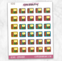 Leftovers Meal Plan Dinner Icons Planner Stickers