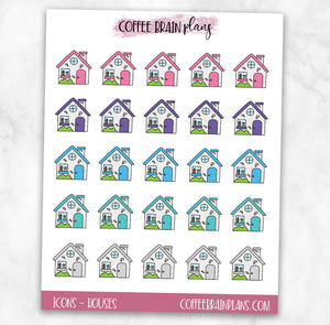 House / Home Icons Planner Stickers