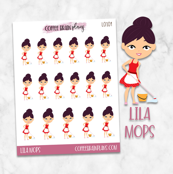 Lila Mops Character Planner Stickers