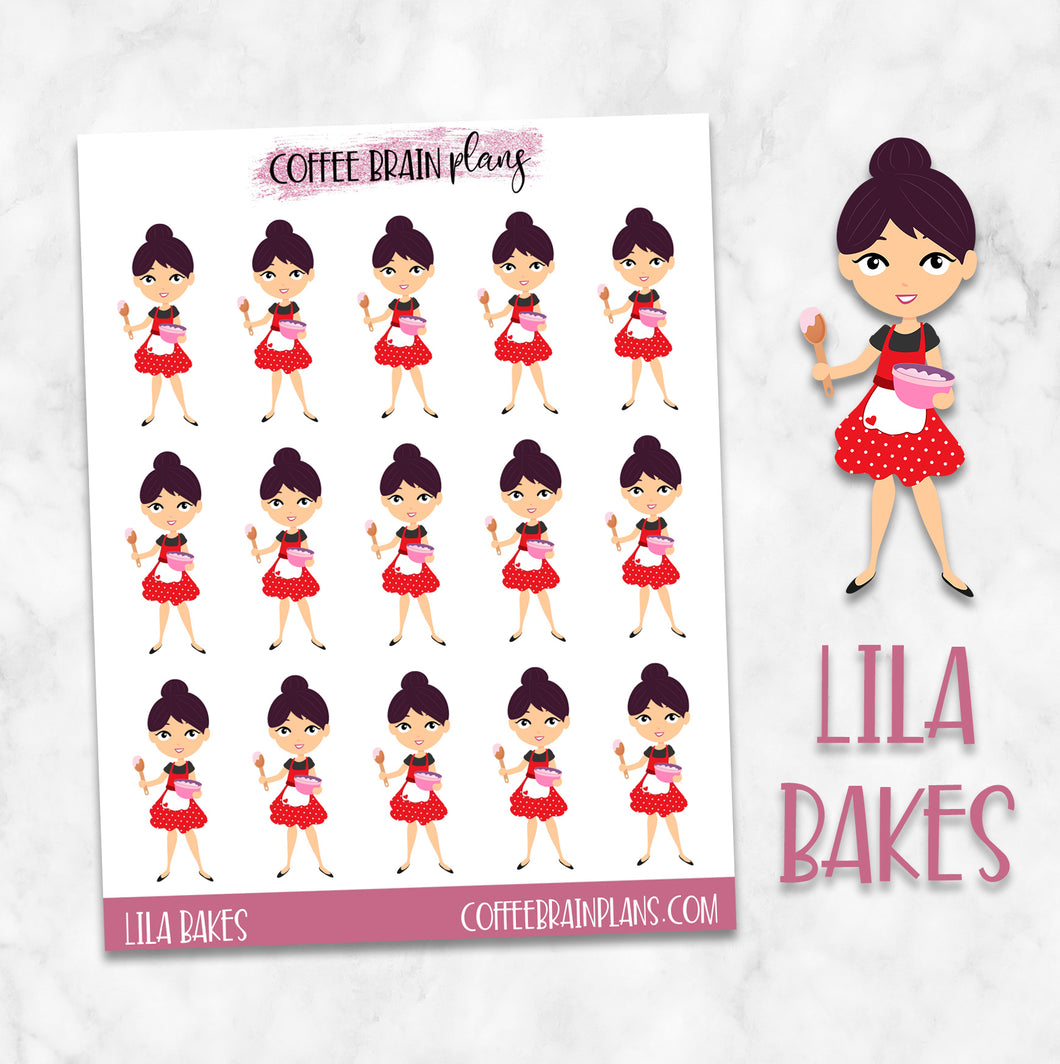Lila Bakes Character Planner Stickers