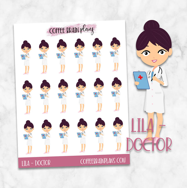 Doctor Lila Character Planner Stickers