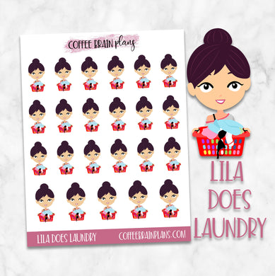 Lila Does Laundry Character Planner Stickers