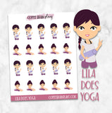 Lila Does Yoga Character Planner Stickers