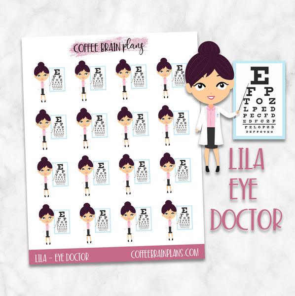 Eye Doctor Lila Character Planner Stickers