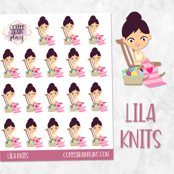 Lila Knits Character Planner Stickers