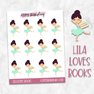 Lila Loves Books Character Planner Stickers