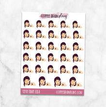 Sexy Time Lila Character Planner Stickers