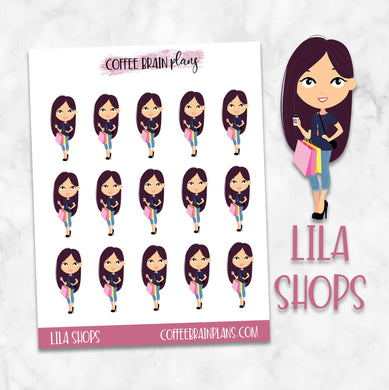 Lila Shops (Goes Shopping) Character Planner Stickers