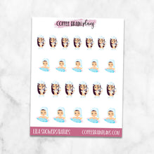 Lila Showers or Bathes Character Planner Stickers