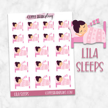 Lila Sleeps Character Planner Stickers