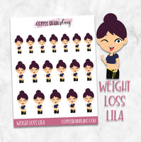 Weight Loss Lila Character Planner Stickers