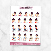 Lila Works/Studies Character Planner Stickers