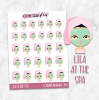 Lila at the Spa Character Planner Stickers