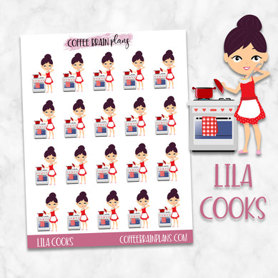 Lila Cooks Character Planner Stickers