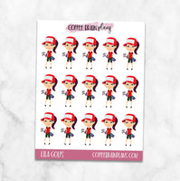 Lila Golfs Summer Character Planner Stickers