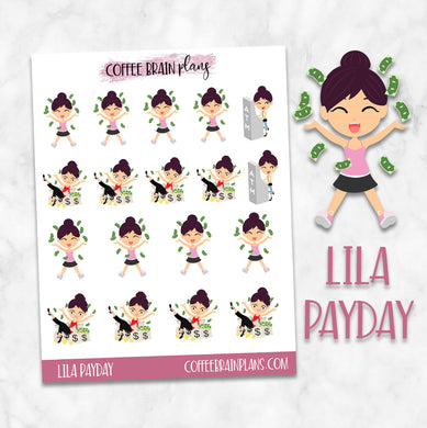 Lila Payday (Gets Paid) Character Planner Stickers