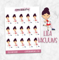 Lila Vacuums Planner Character Stickers