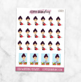 Lila Waters the Flowers Spring Character Planner Stickers