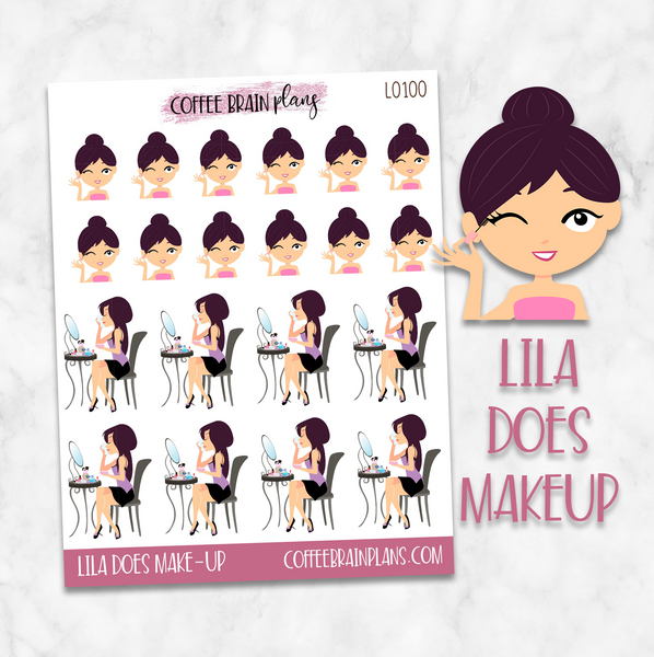 Lila Does Makeup Character Planner Stickers