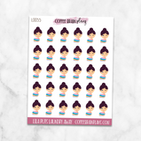 Lila Puts Laundry Away Character Planner Stickers