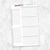 Passion Planner Medium Blank Long Checklist Planner Stickers