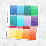 Glitter Header / Dividers for Medium Passion Planner Stickers