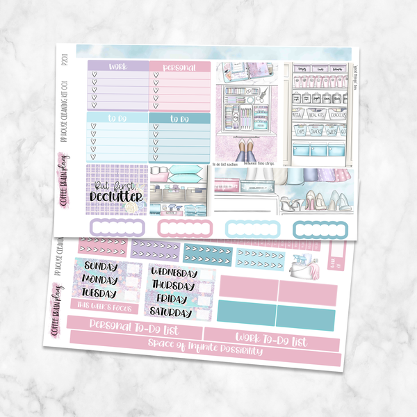 House Cleaning Weekly Kit for Medium Passion Planner