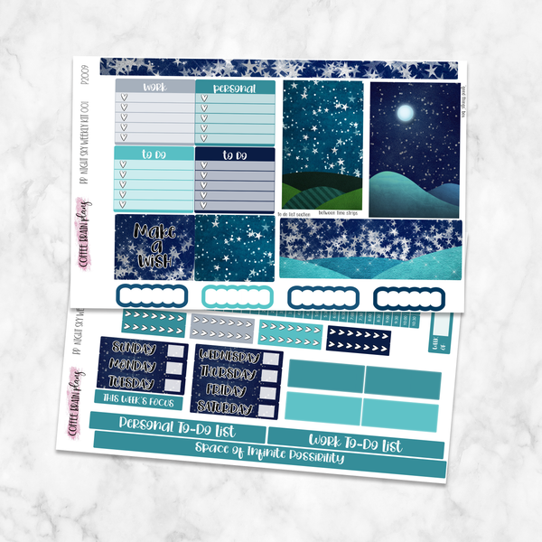 Night Sky Weekly Kit for Medium Passion Planner