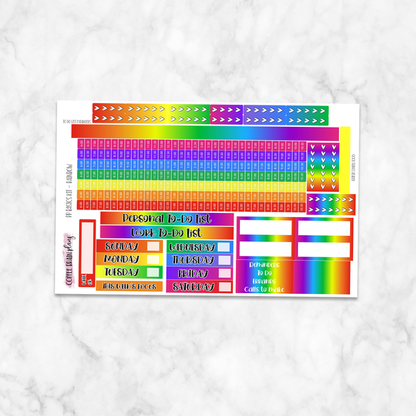 Medium Passion Planner Rainbow Basic Weekly Kit