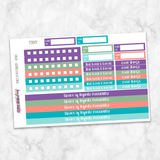 Passion Planner - Build Your Own Kit - Retro Colors Medium Planner Stickers
