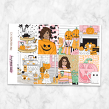 Pink Halloween Weekly Kit for Classic Happy Planner