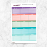Passion Planner Medium To Do Boxes Heart Checklist Planner Stickers