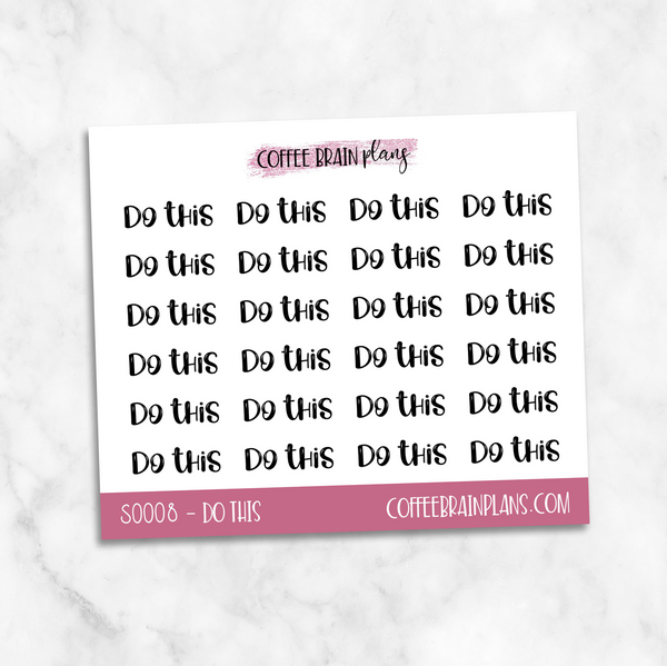 Do This Toonie Scripts Mini Sheet Planner Stickers