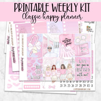 PRINTABLE: Wednesdays We Wear Pink Weekly Kit for Classic Happy Planner