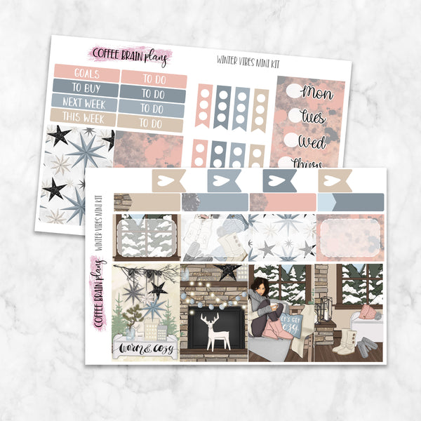 Winter Vibes Mini Weekly Kit for Classic Happy Planner