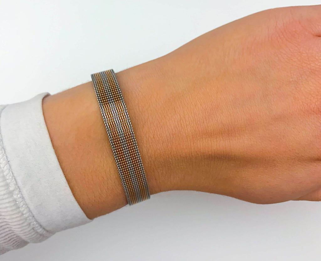 "Bi-Color ""DIY"" - Mesh Armband"