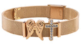 """Faith & Hope"" Mesh Armband"