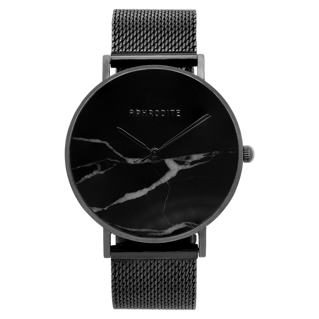 """Be Unique"" - Black Mesh Uhr"