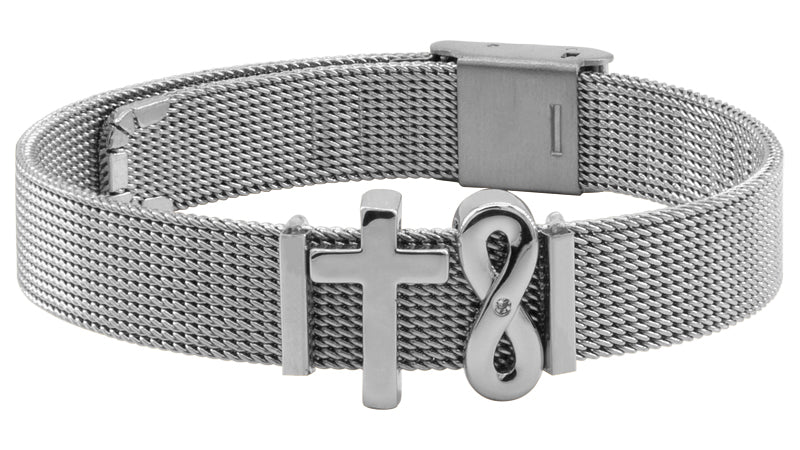 """Forever Faithful"" Mesh Armband"