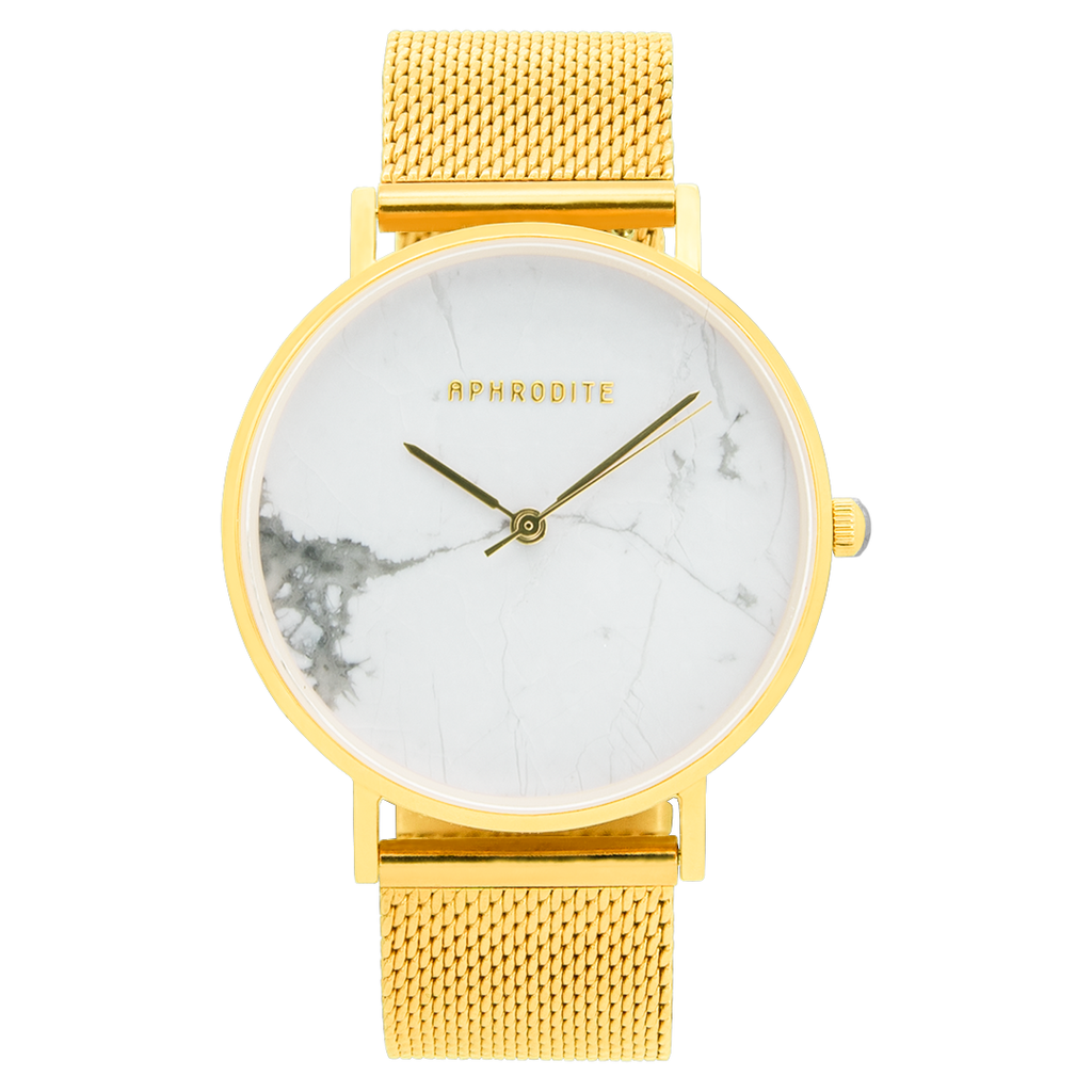 """Be Unique"" - Gold Mesh Uhr"