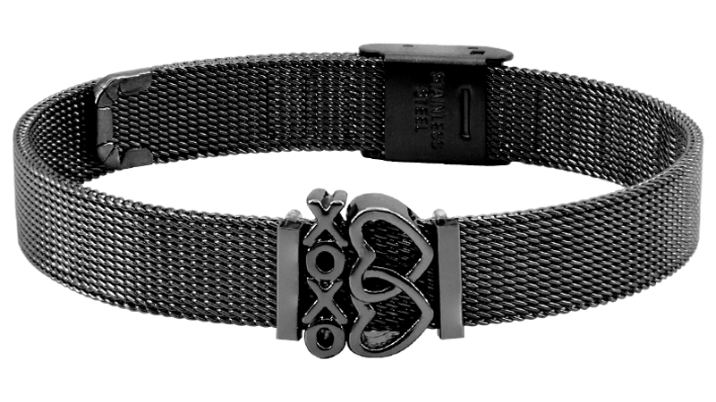"""Hugs and Kisses"" - Mesh Armband"